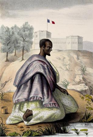 Muçulmano de etnia mandinga (Fonte: P. David Boilat/ As imagens. Olhares sobre o tráfico e a escravidão/UFPR).